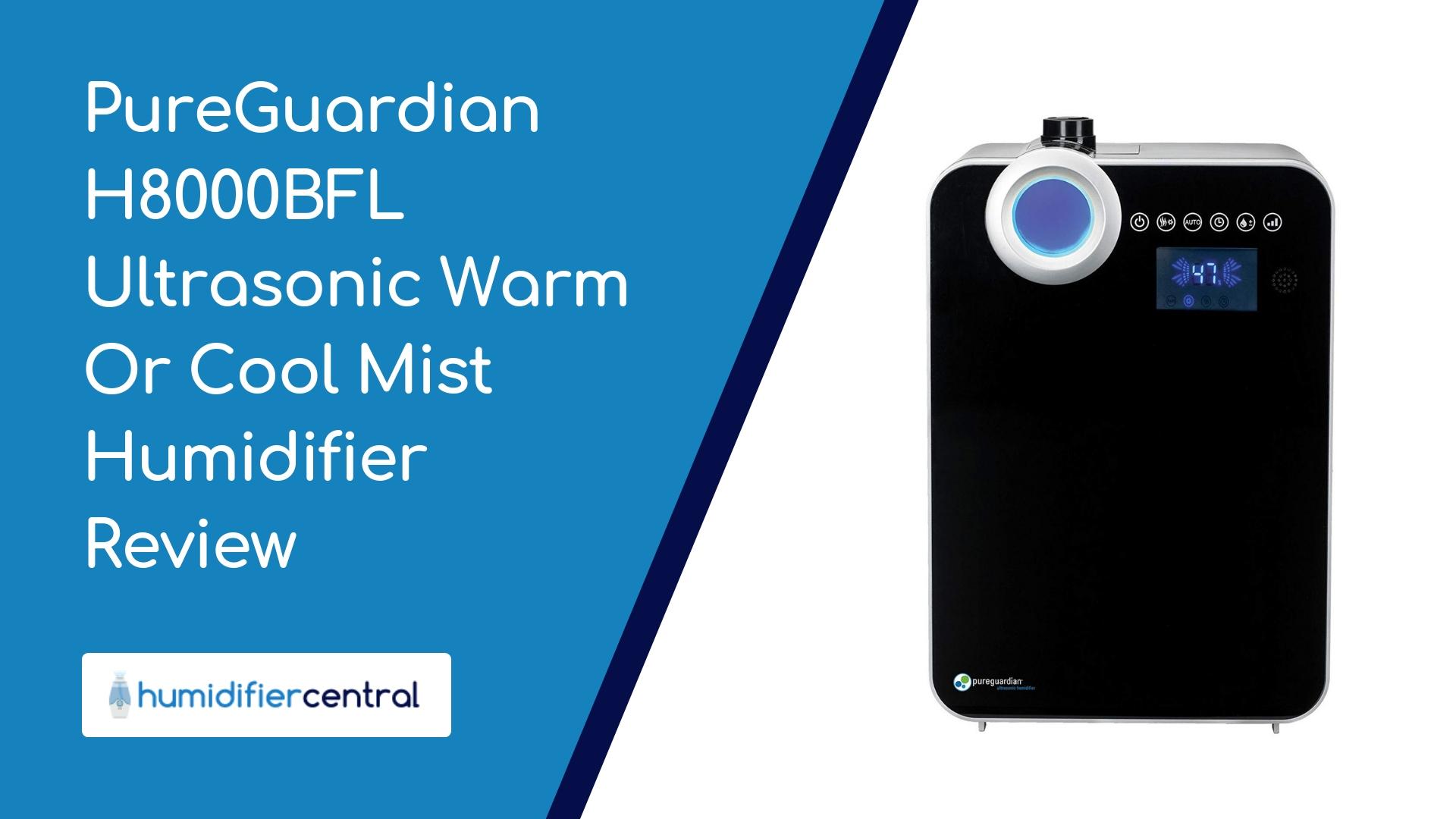 2 Gallons PureGuardian 120-Hour Elite Ultrasonic Warm and Cool Mist Humidifier with Digital Smart Mist Sensor